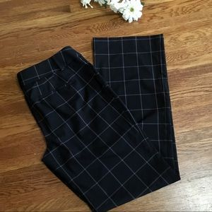 Loft 12 T Julie Trouser windowpane slacks pants